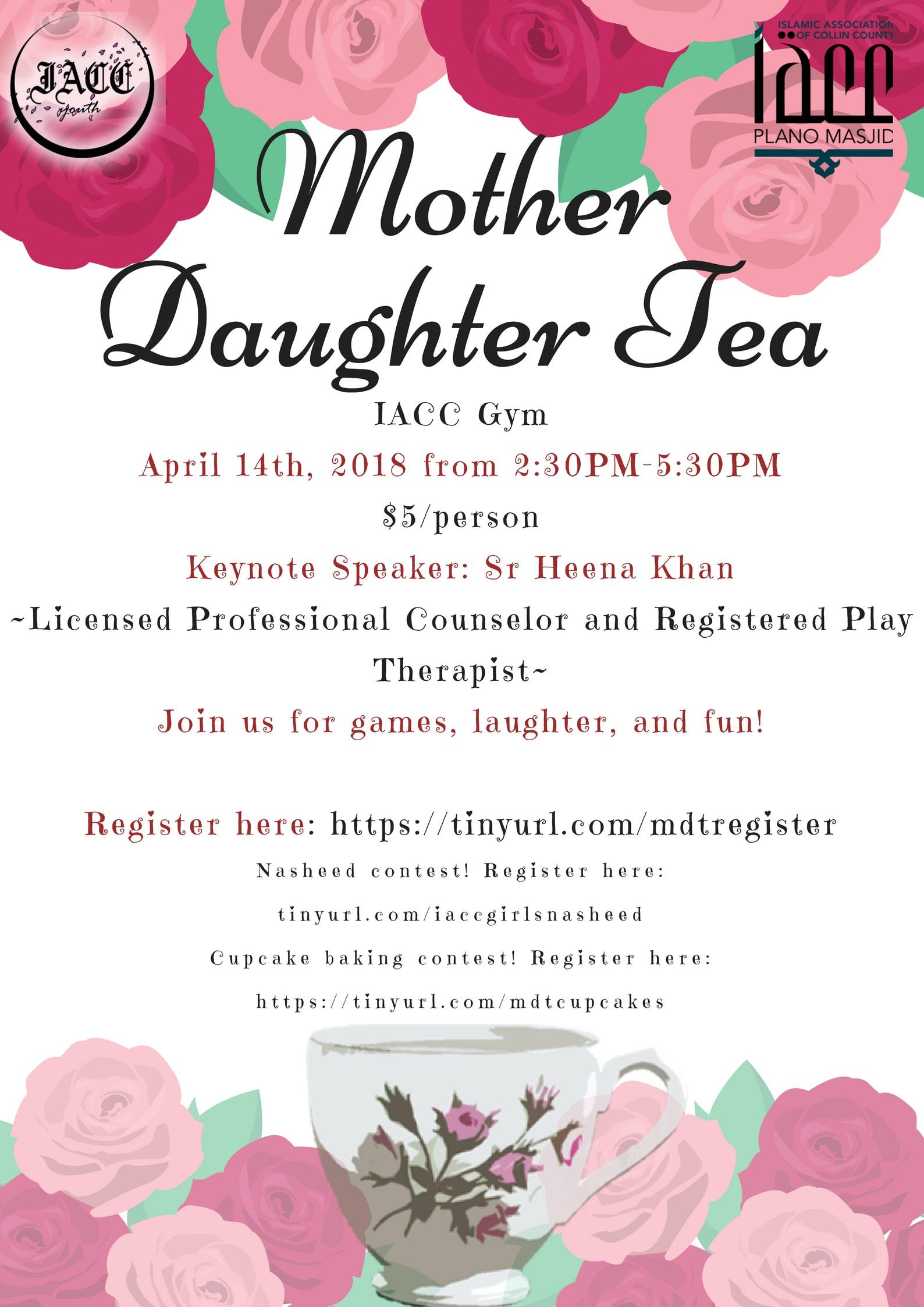 Mother Daughter Tea Plano Masjid
