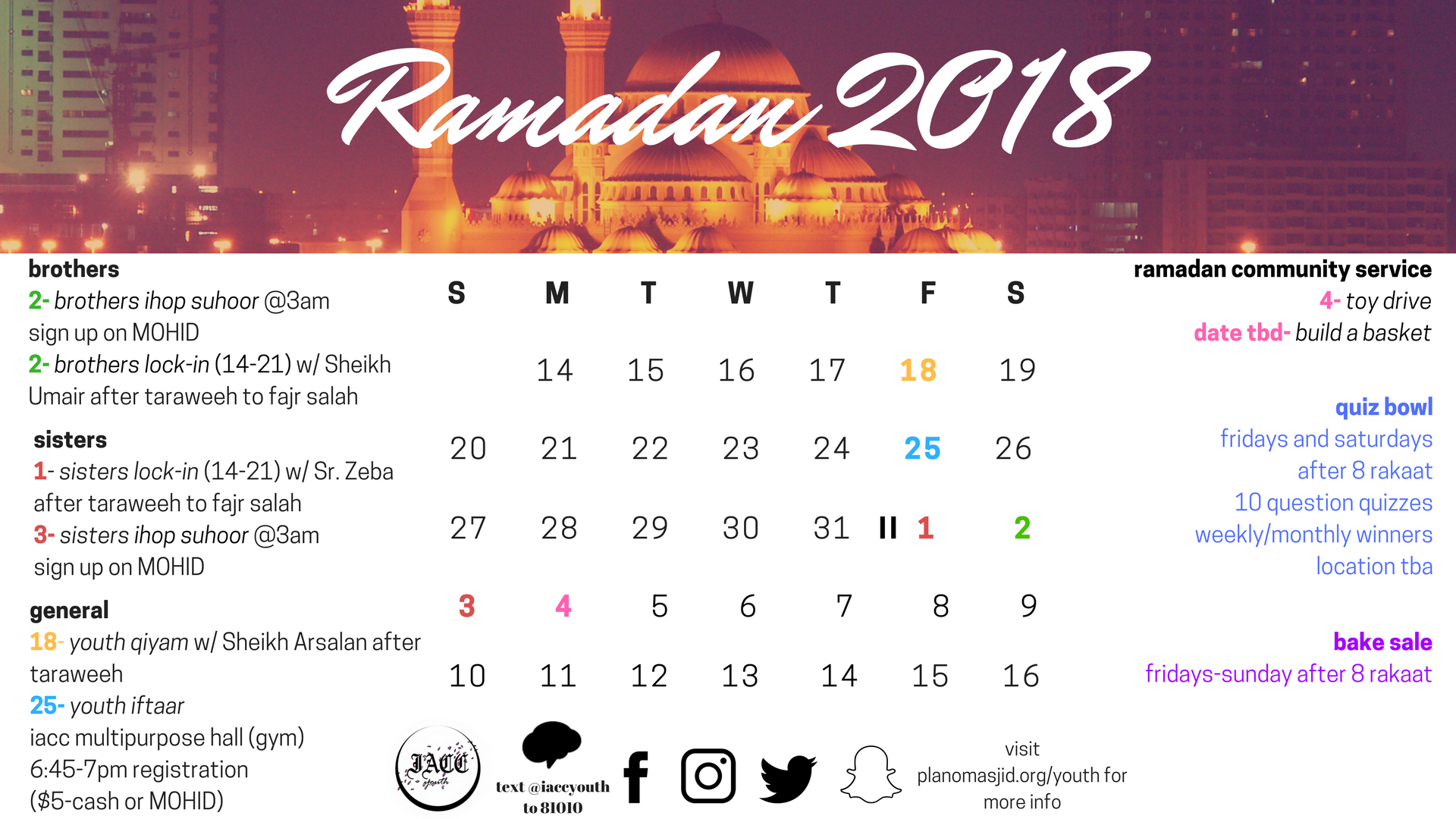 Calendar Ramadan Date : Calendar plano masjid