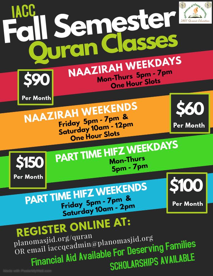IACC Fall Semester Quran Classes
