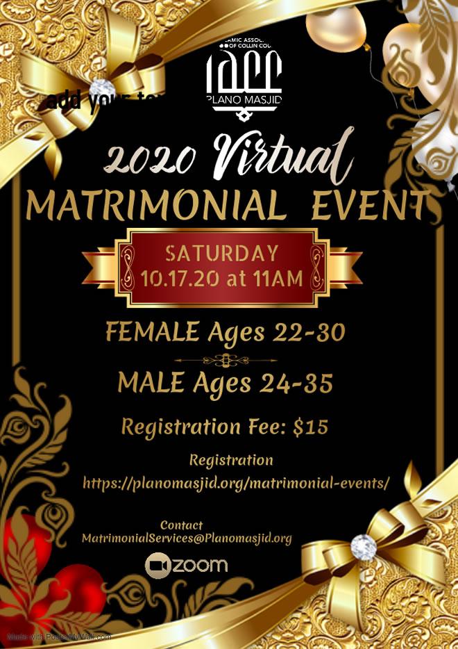 IACC 2020 Virtual Matrimonial Event