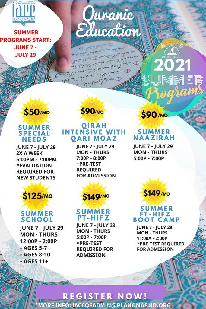2021 summer programs